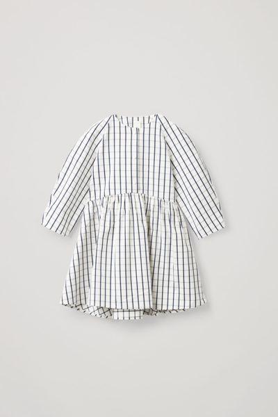 COS default image 11 of  in 코튼 서클컷 체크 롱 슬리브 드레스