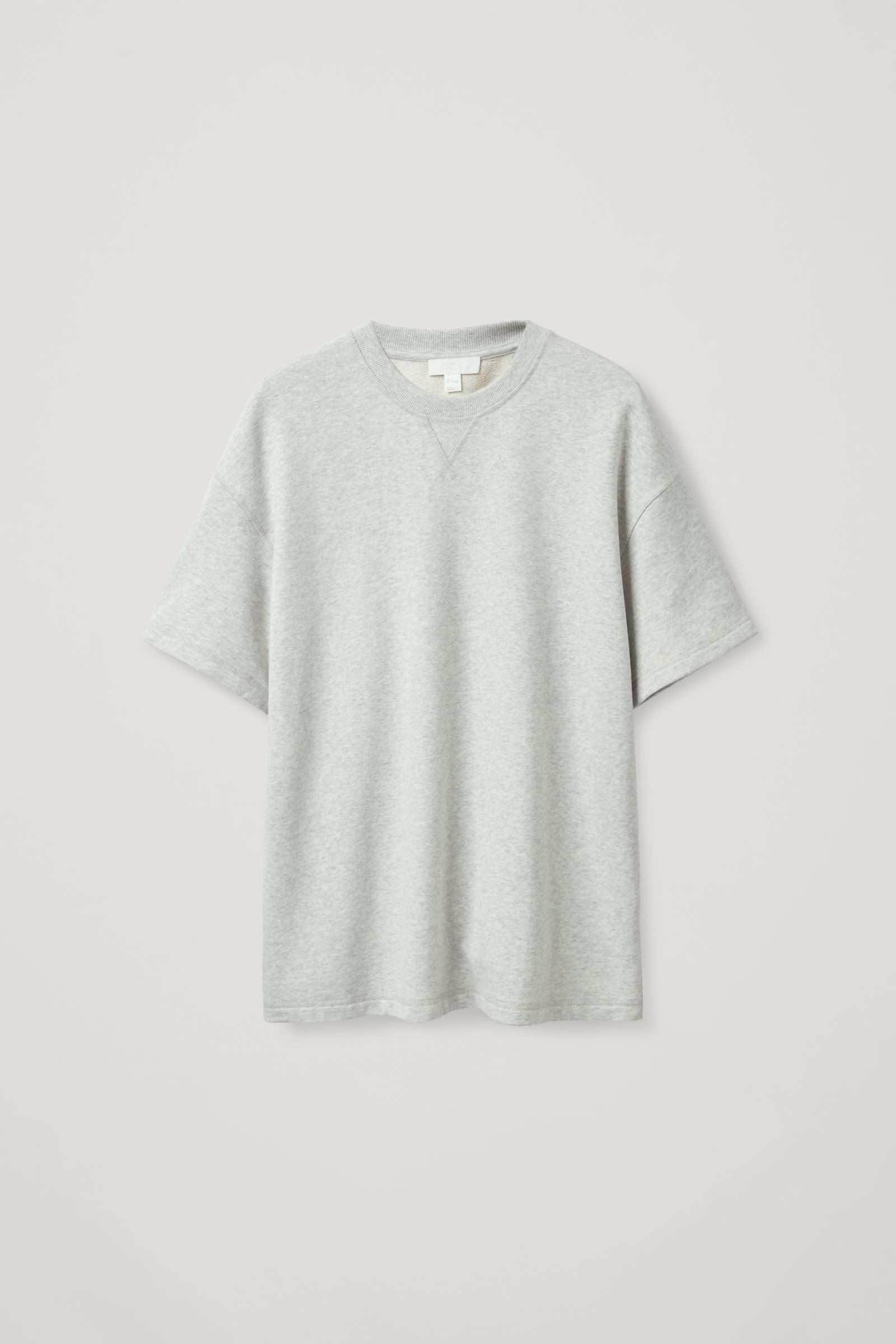 COS 스웻 티셔츠의 그레이컬러 Product입니다.