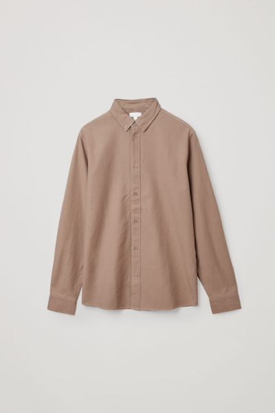 COS default image 6 of 브라운 in 버튼다운 칼라 셔츠