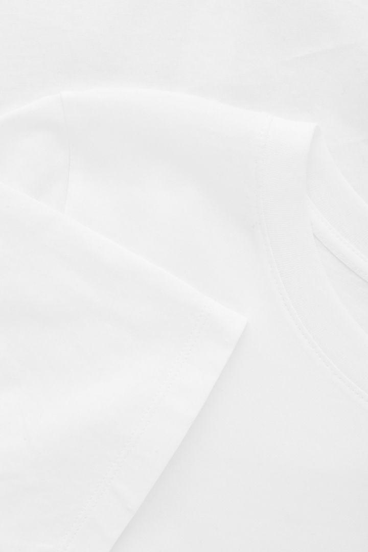 COS 코튼 저지 티셔츠의 화이트컬러 Product입니다.