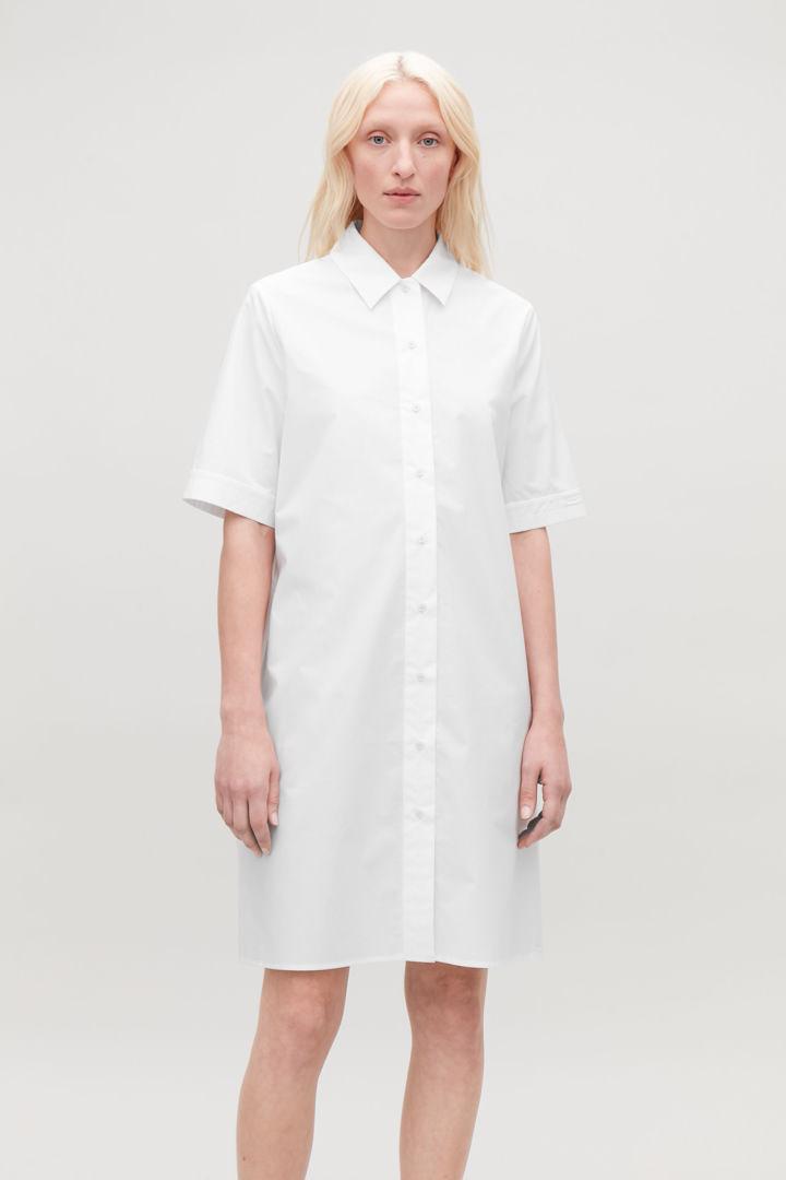 COS default image 2 of 화이트 in 오가닉 코튼 셔츠 드레스