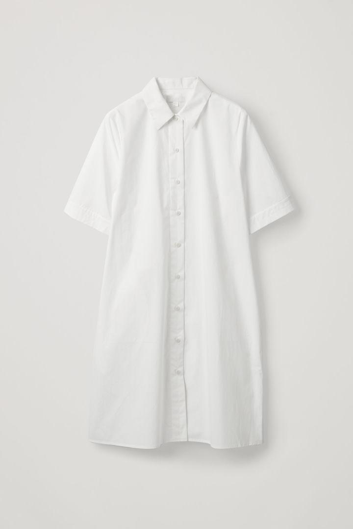 COS hover image 2 of 화이트 in 오가닉 코튼 셔츠 드레스