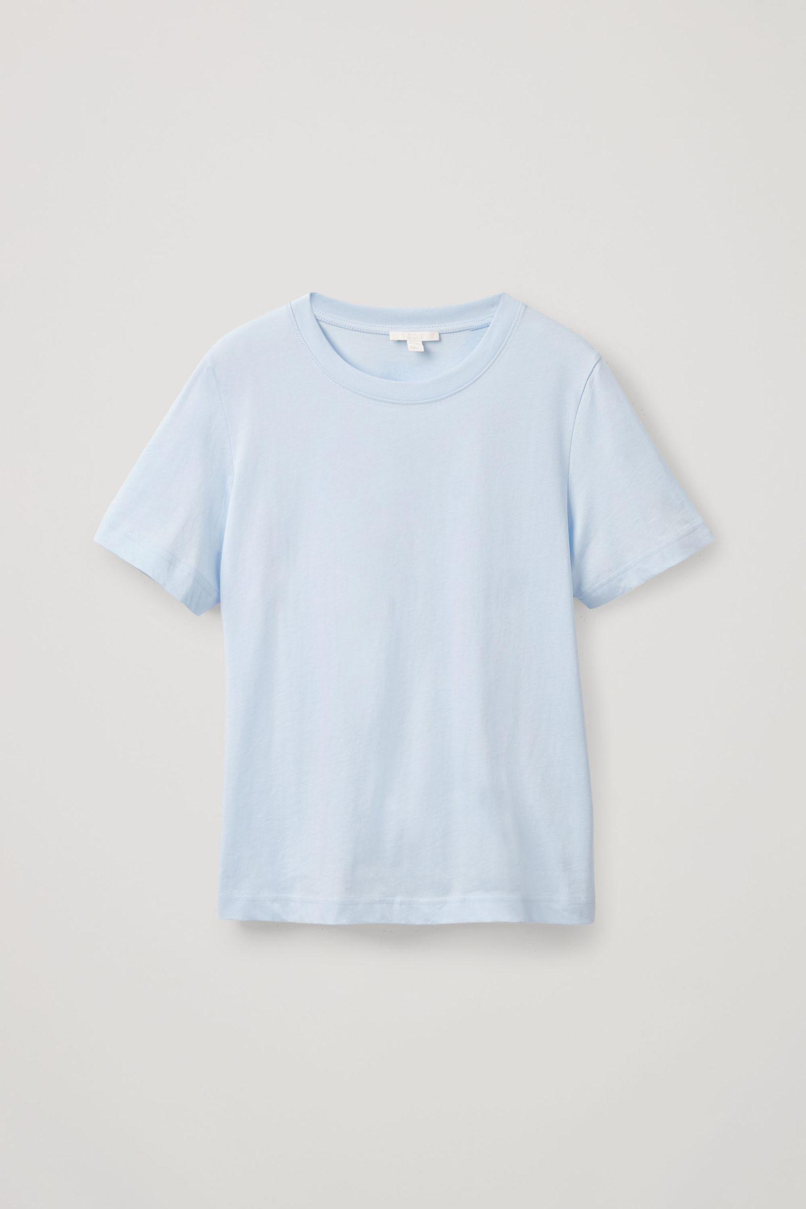 COS 코튼 저지 티셔츠의 블루컬러 Product입니다.
