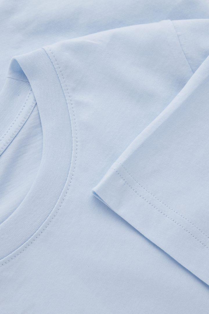 COS 코튼 저지 티셔츠의 블루컬러 Detail입니다.