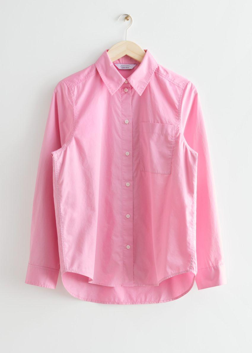앤아더스토리즈 클래식 코튼 셔츠의 핑크컬러 Product입니다.