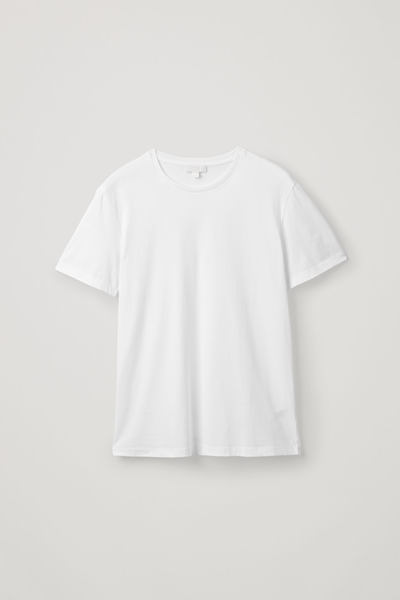COS default image 2 of 화이트 in 라운드 넥 티셔츠