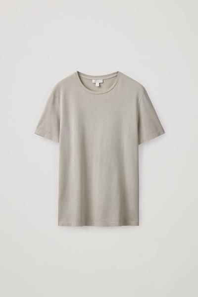 COS default image 2 of 브라운 in 라운드 넥 티셔츠