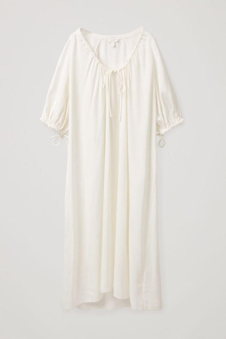 COS default image 1 of 화이트 in 드로우스트링 드레스