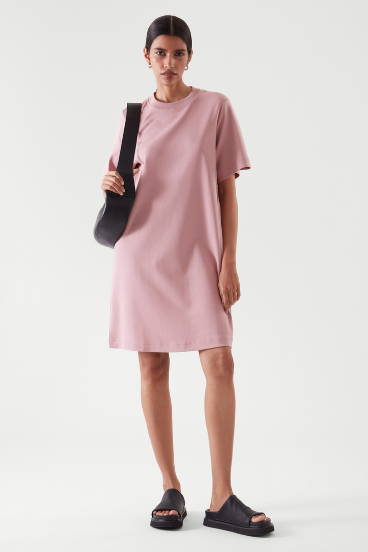COS default image 1 of 핑크 in 티셔츠 드레스