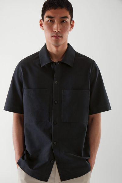 COS default image 1 of 블루 in 릴랙스드 셔츠