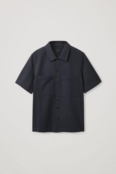 COS hover image 1 of 블루 in 릴랙스드 셔츠