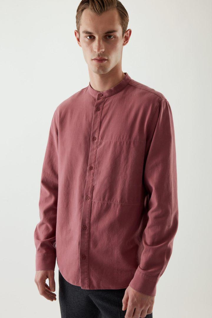 COS default image 12 of 핑크 in 레귤러 핏 코튼 믹스 셔츠