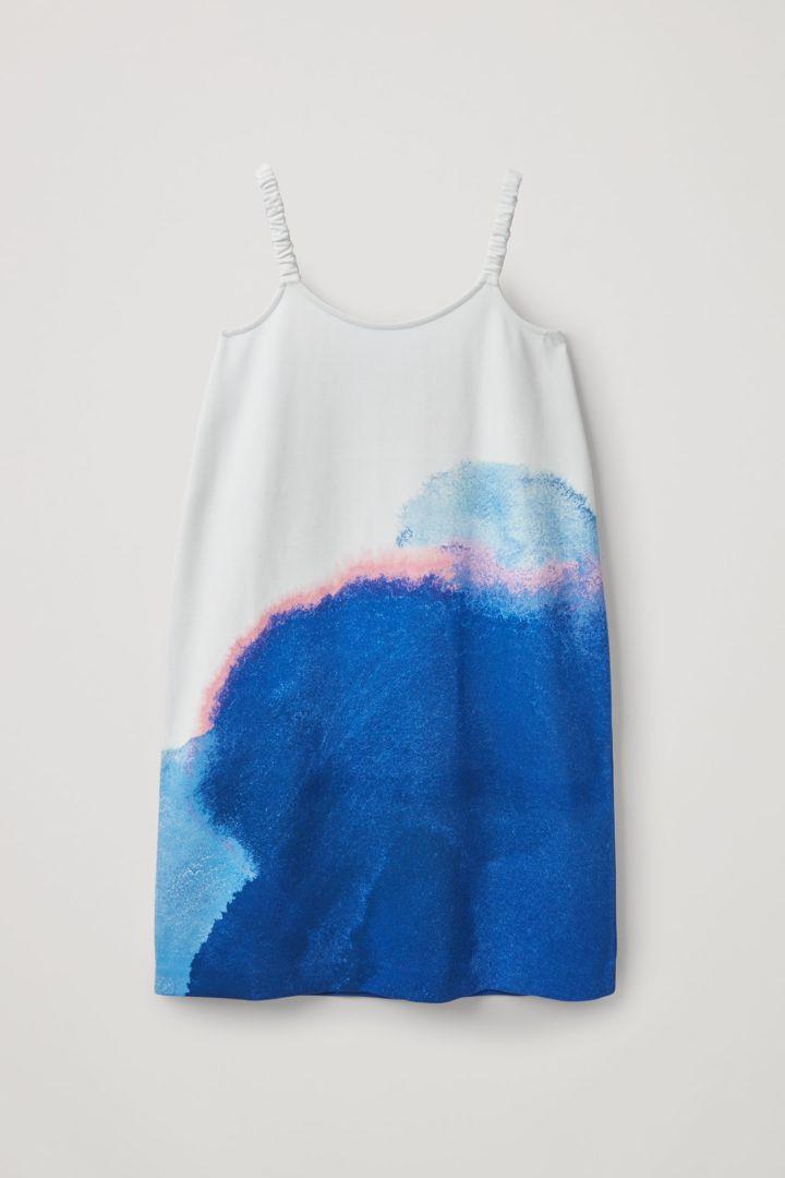 COS 슬리브리스 프린티드 드레스의 멀티컬러컬러 Product입니다.