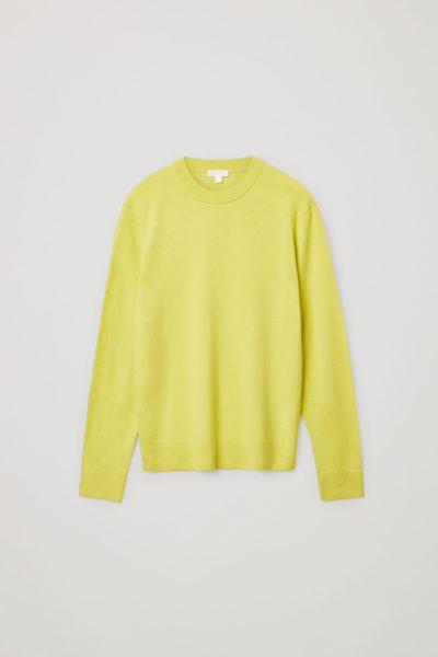COS default image 2 of 옐로우 in 메리노 야크 크루넥 스웨터