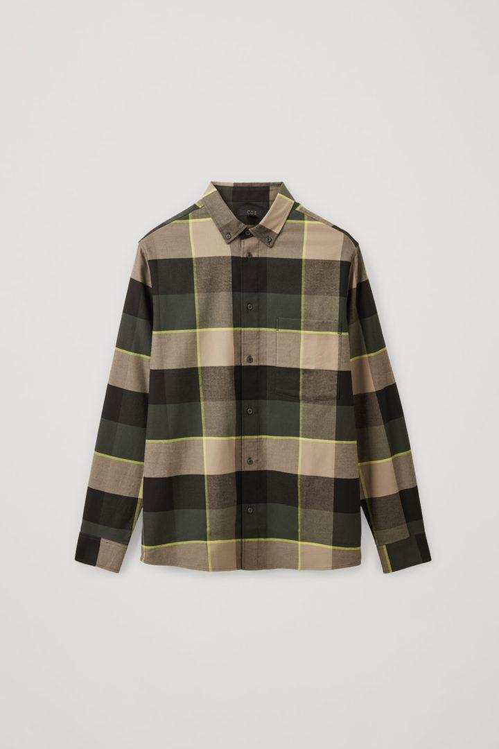 COS 플란넬 체크 셔츠의 멀티 체크컬러 Product입니다.