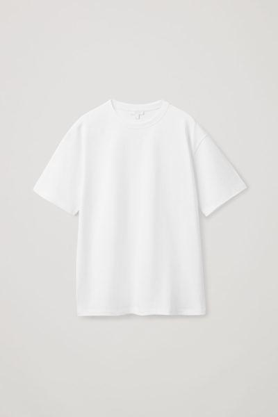 COS default image 4 of 화이트 in 릴랙스드 핏 티셔츠