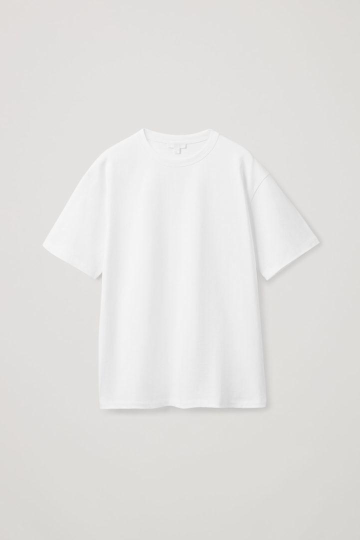 COS hover image 1 of 화이트 in 릴랙스드 핏 티셔츠