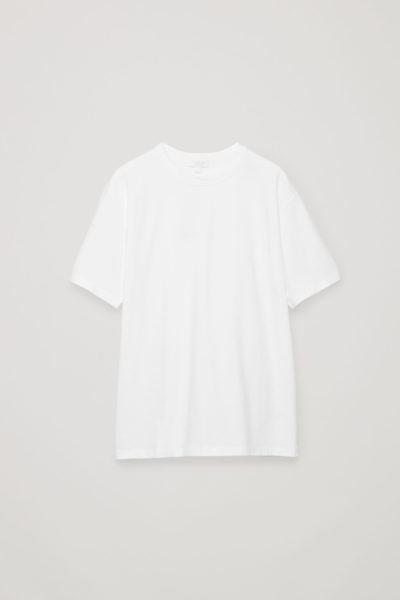 COS default image 7 of 화이트 in 릴랙스드 핏 티셔츠