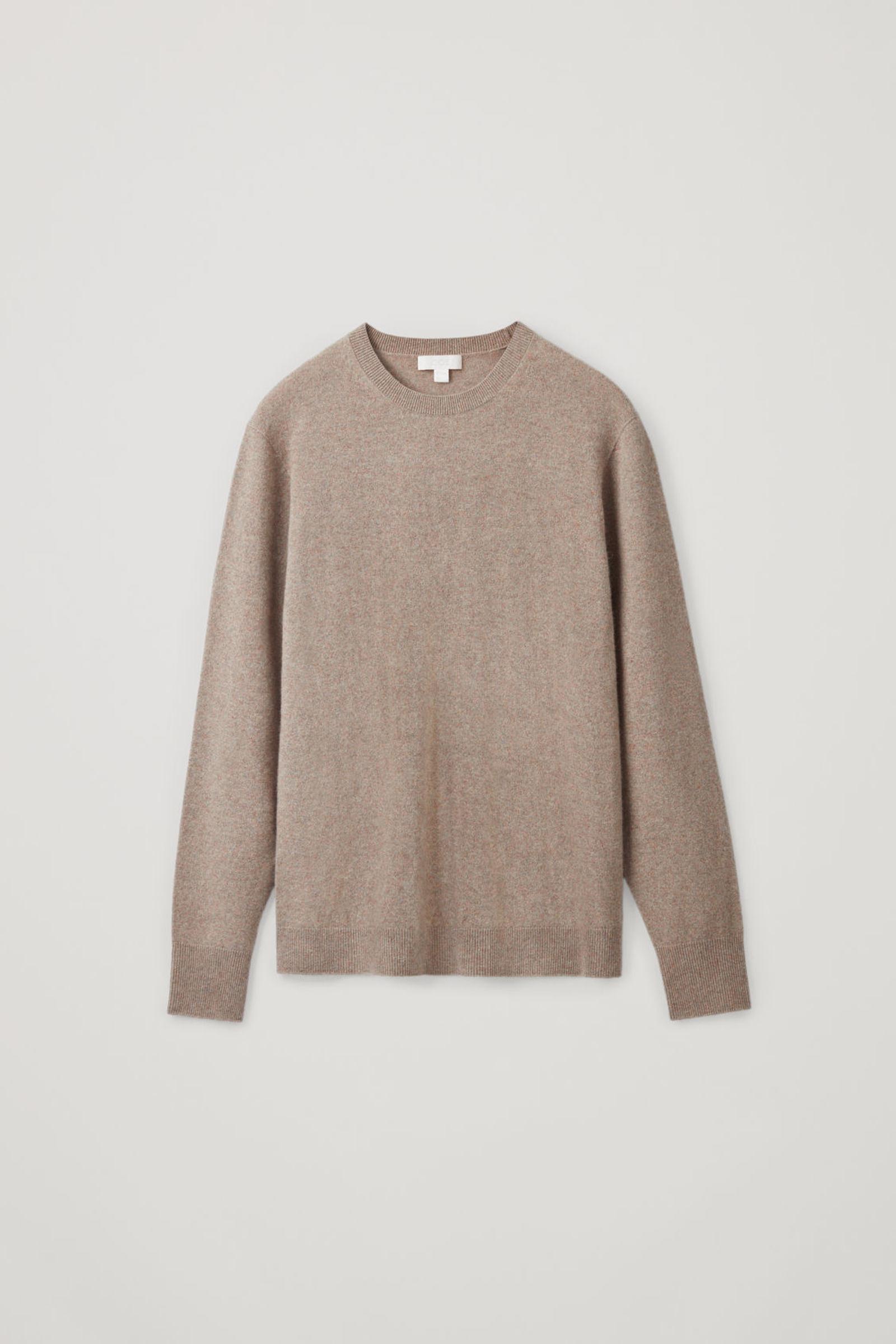 COS 유니섹스 리퍼포스드 캐시미어 스웨터의 라이트 브라운컬러 Product입니다.