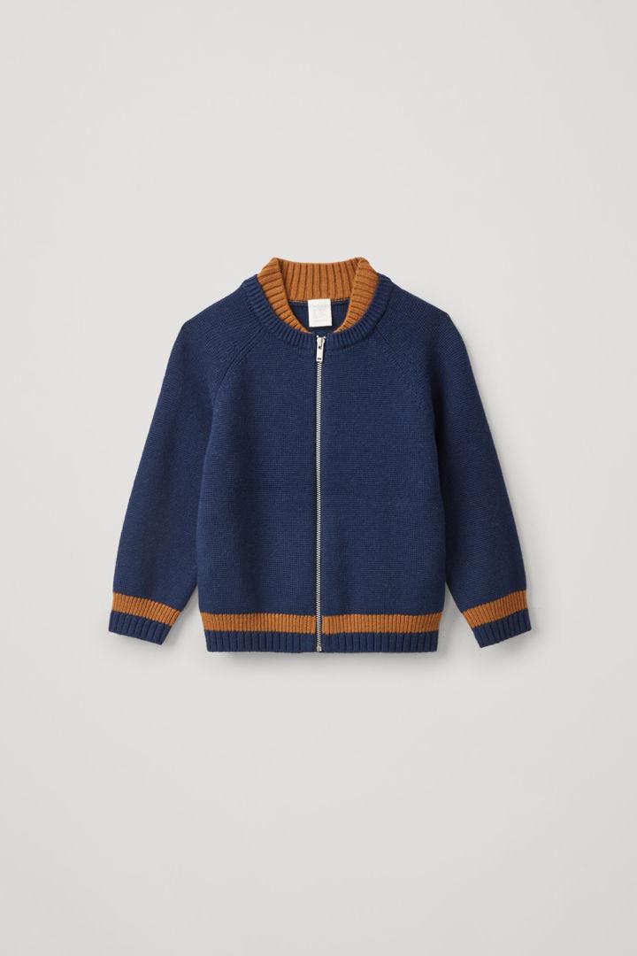 COS default image 7 of 블루 in 코튼 울 봄버 재킷