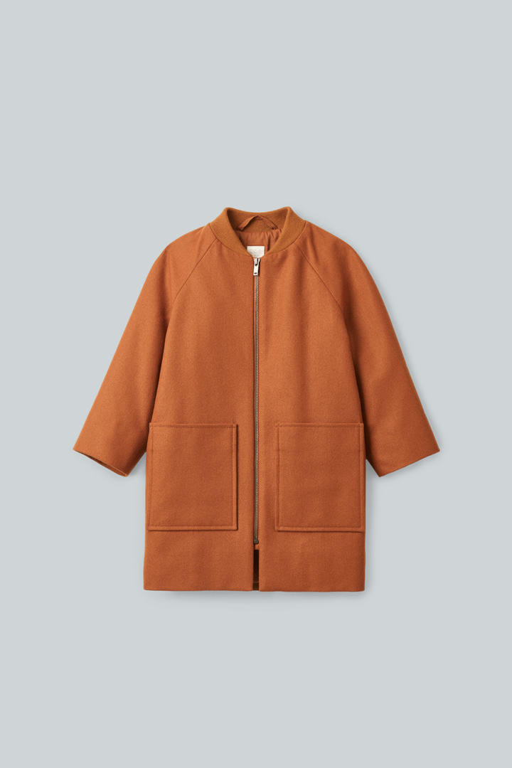 COS default image 5 of 오렌지 in 롱 울 봄버 재킷