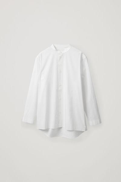 COS default image 6 of 화이트 in 탑스티치드 그랜대드 셔츠