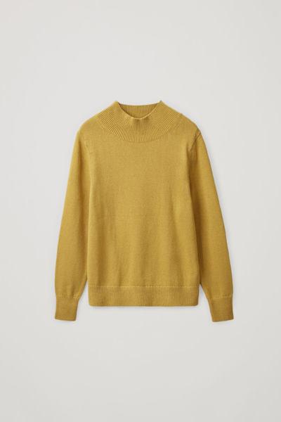COS default image 3 of 옐로우 in 롱 코튼 리넨 스웨터