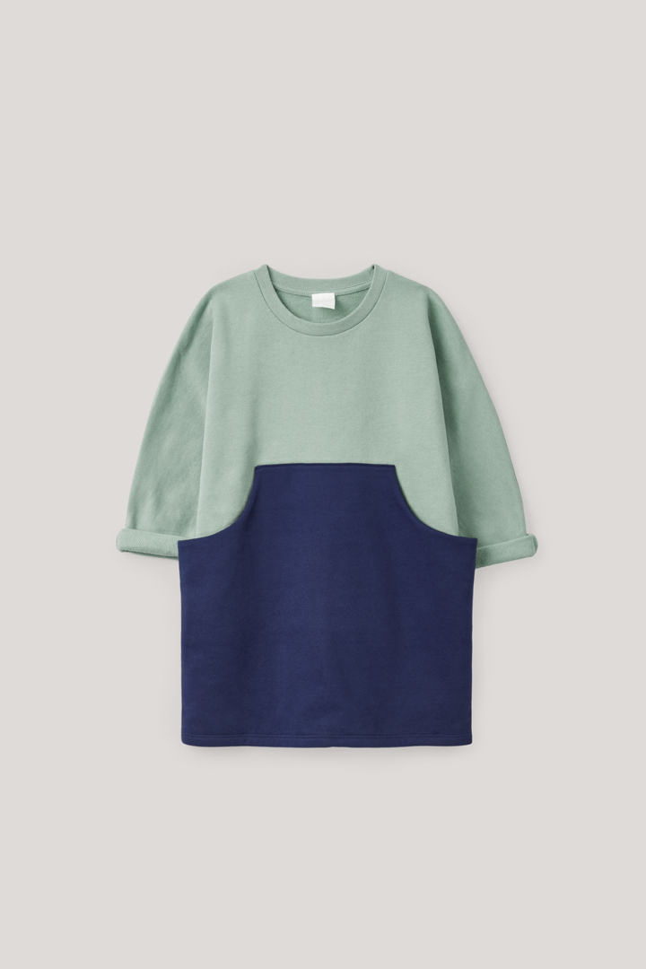 COS default image 11 of 블루 in 프론트 포켓 저지 드레스