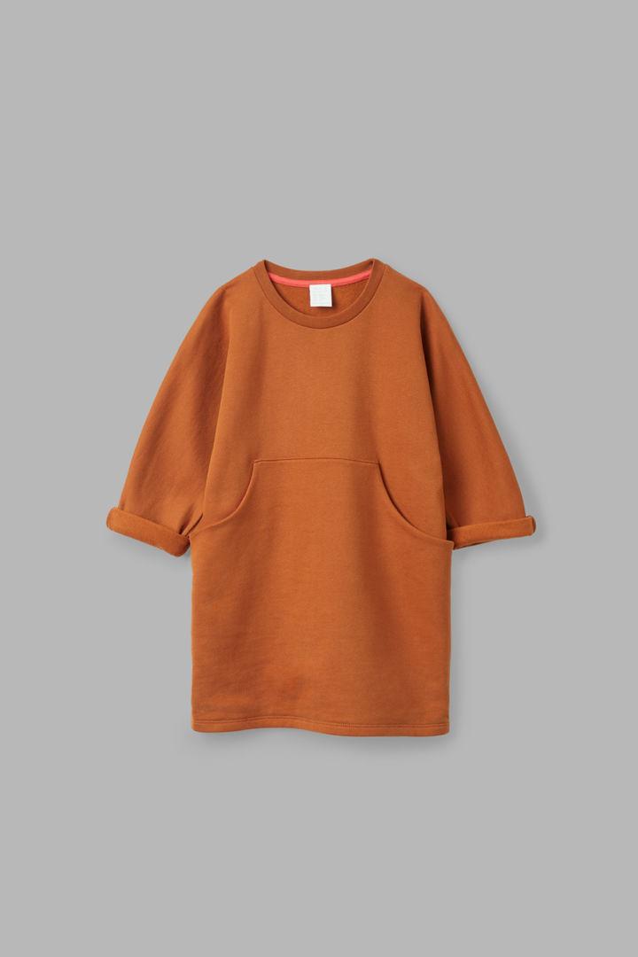 COS default image 3 of 오렌지 in 프론트 포켓 저지 드레스