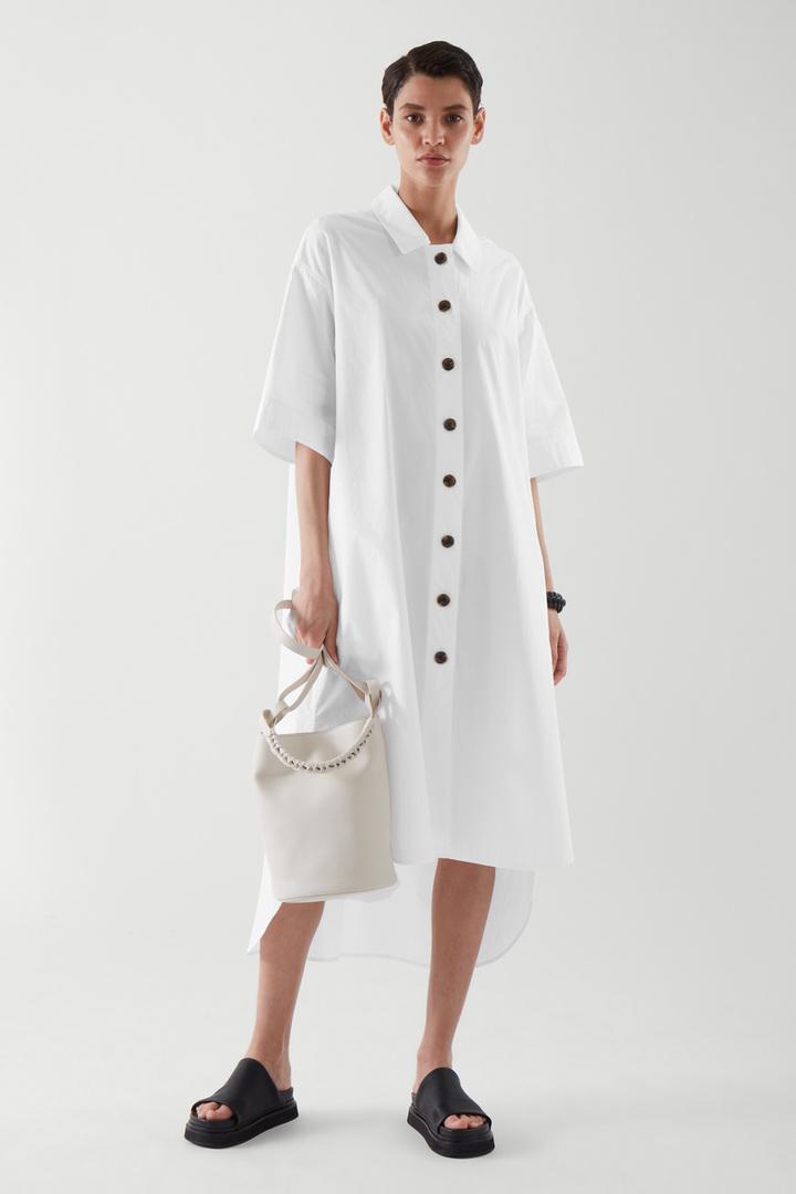 COS default image 3 of 화이트 in 에이라인 셔츠 드레스
