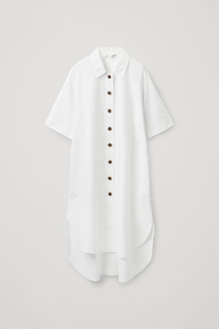 COS hover image 3 of 화이트 in 에이라인 셔츠 드레스