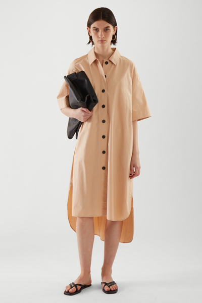 COS default image 5 of 베이지 in 에이라인 셔츠 드레스