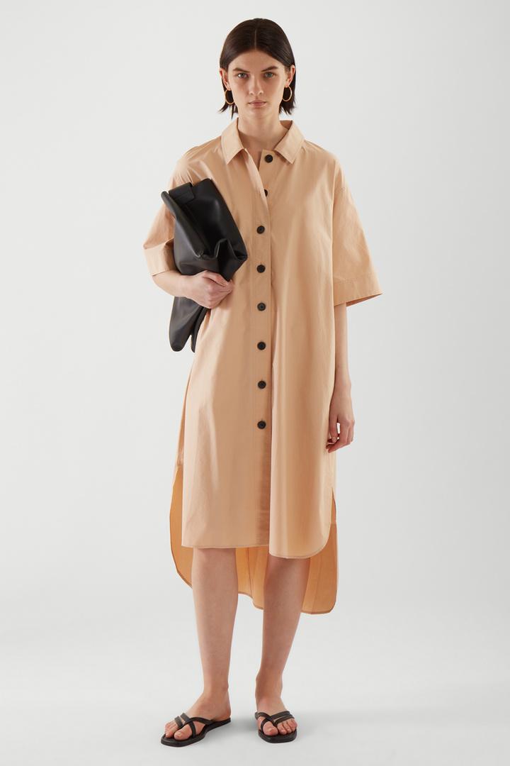 COS default image 2 of 베이지 in 에이라인 셔츠 드레스