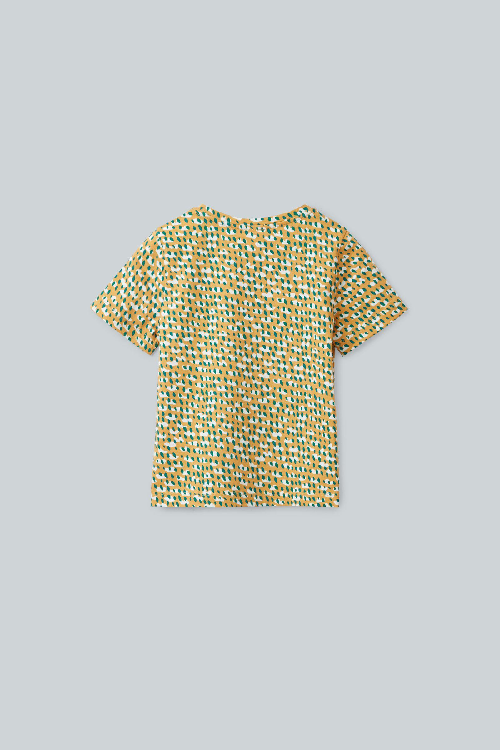 COS 프린티드 오가닉 코튼 티셔츠의 옐로우 / 그린 / 화이트컬러 Product입니다.