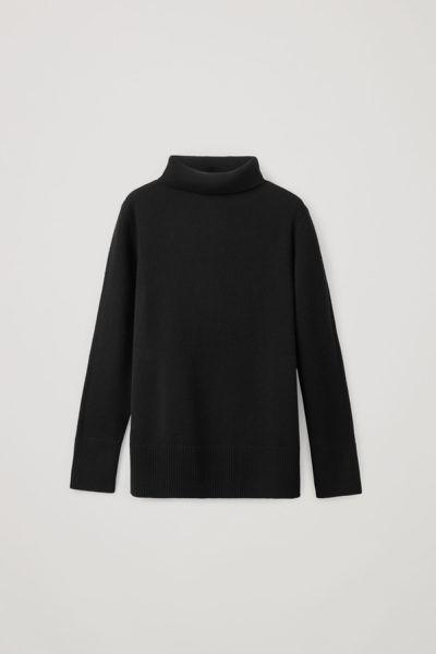 COS default image 4 of 블랙 in 캐시미어 롤넥 스웨터