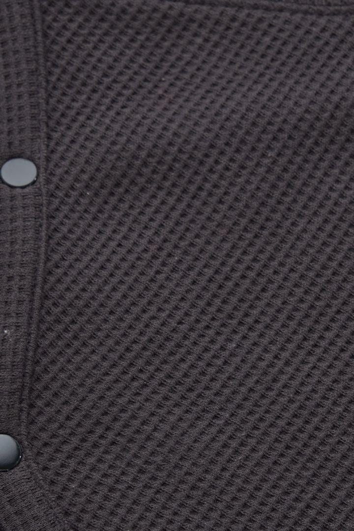 COS 프린티드 오가닉 코튼 베이비그로우의 그레이컬러 Detail입니다.