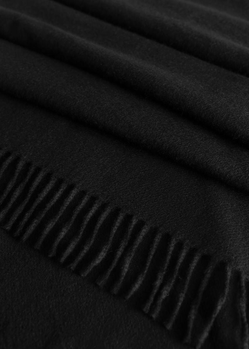 앤아더스토리즈 캐시미어 프린지 트림 스카프의 블랙컬러 Product입니다.