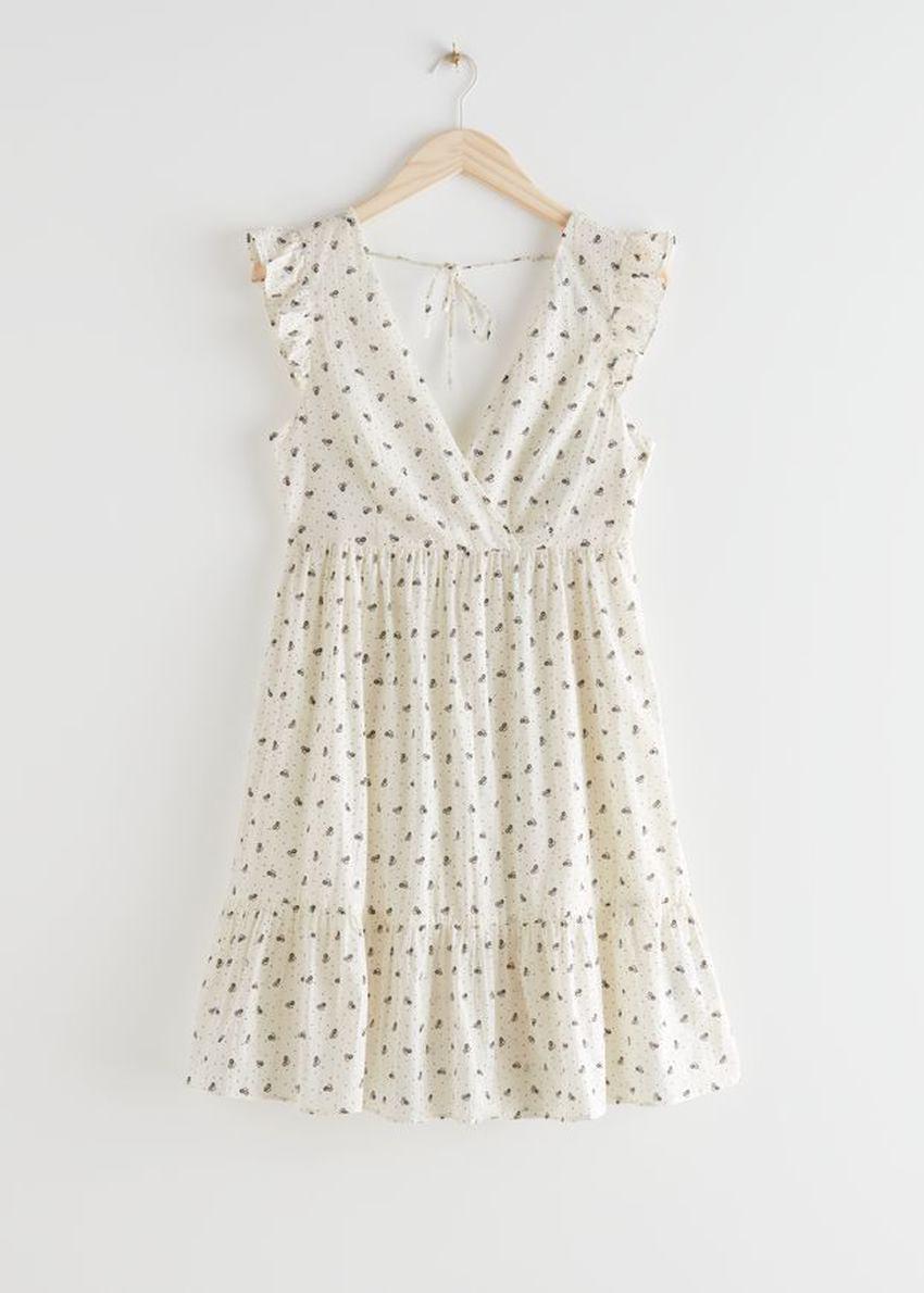 앤아더스토리즈 슬리브리스 코튼 미니 드레스의 화이트컬러 Product입니다.