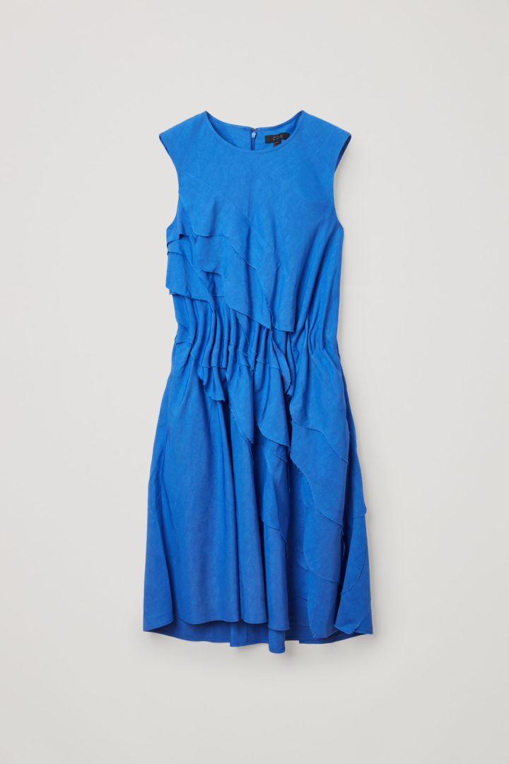 COS 레이어드 리넨 드레스의 블루컬러 Product입니다.