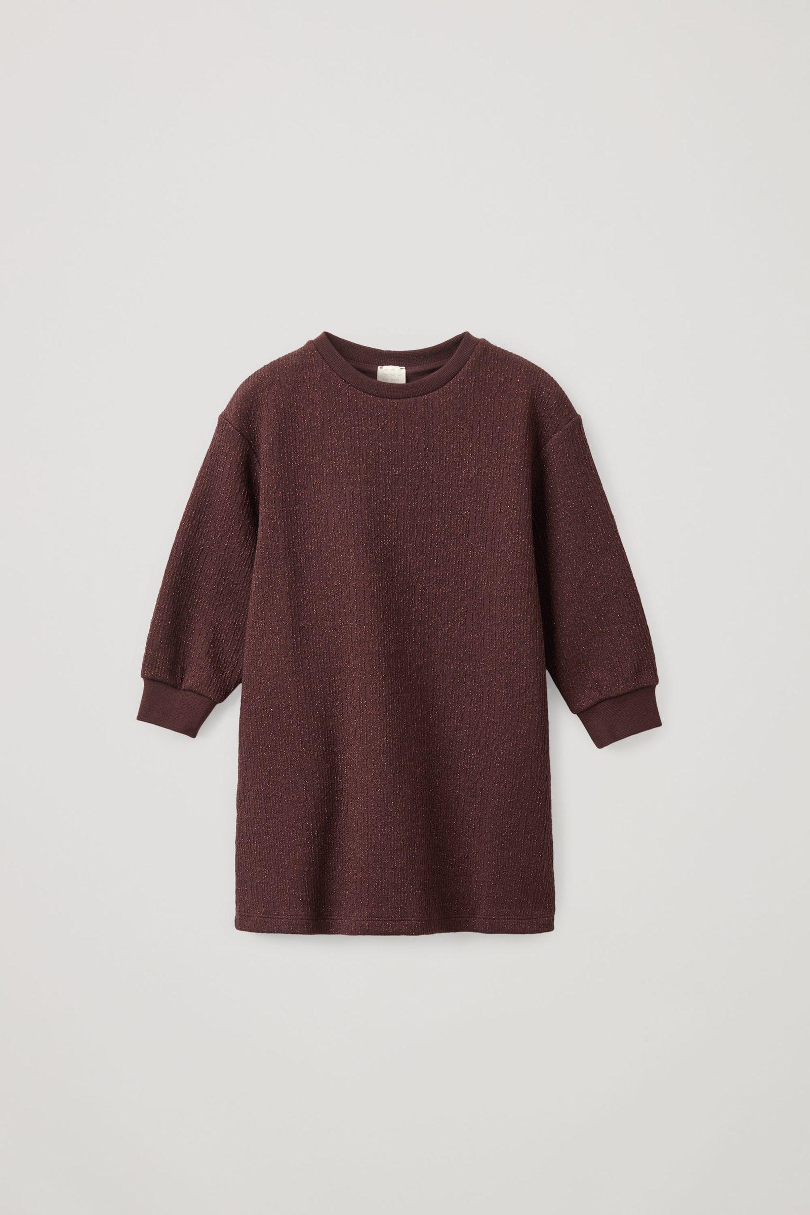 COS 코튼 A라인 루렉스 스웨터 드레스의 퍼플컬러 Product입니다.