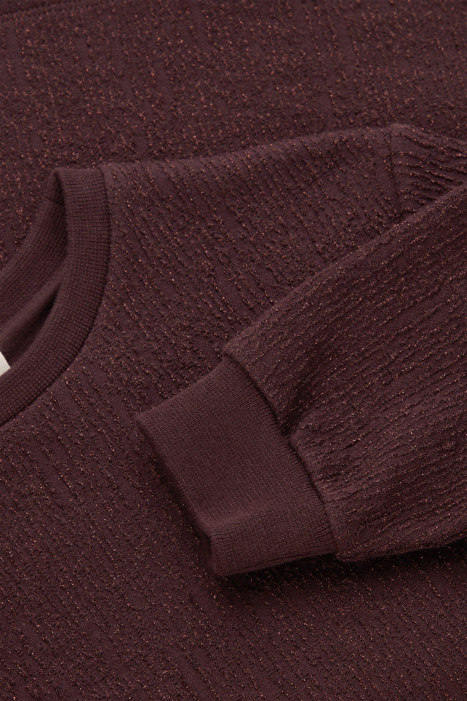 COS 코튼 A라인 루렉스 스웨터 드레스의 퍼플컬러 Detail입니다.