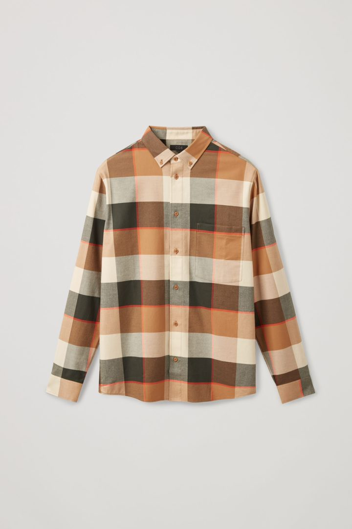 COS 플란넬 체크 셔츠의 베이지컬러 Product입니다.