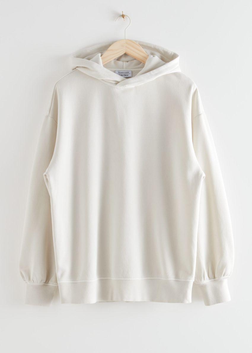 앤아더스토리즈 오버사이즈 후디드 박시 스웨트셔츠의 크림컬러 Product입니다.