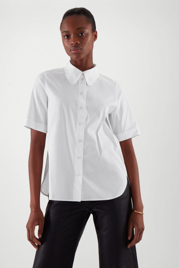 COS default image 2 of 화이트 in 쇼트 슬리브 셔츠