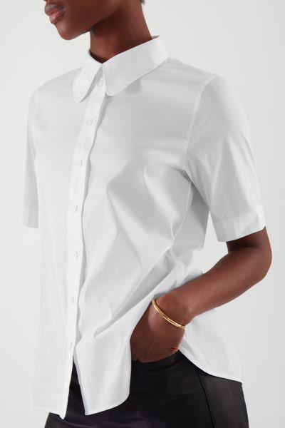 COS default image 6 of 화이트 in 쇼트 슬리브 셔츠
