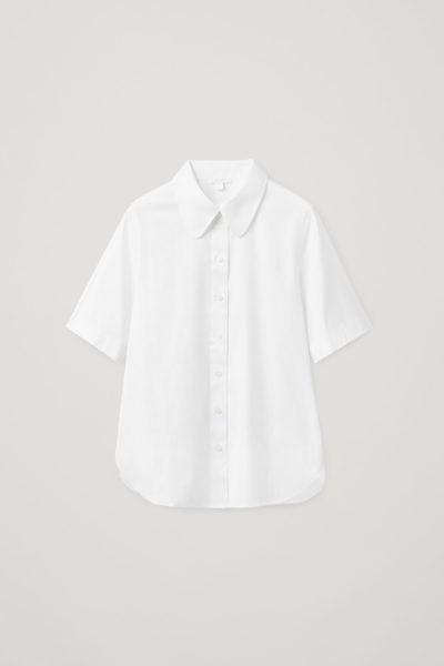 COS hover image 6 of 화이트 in 쇼트 슬리브 셔츠