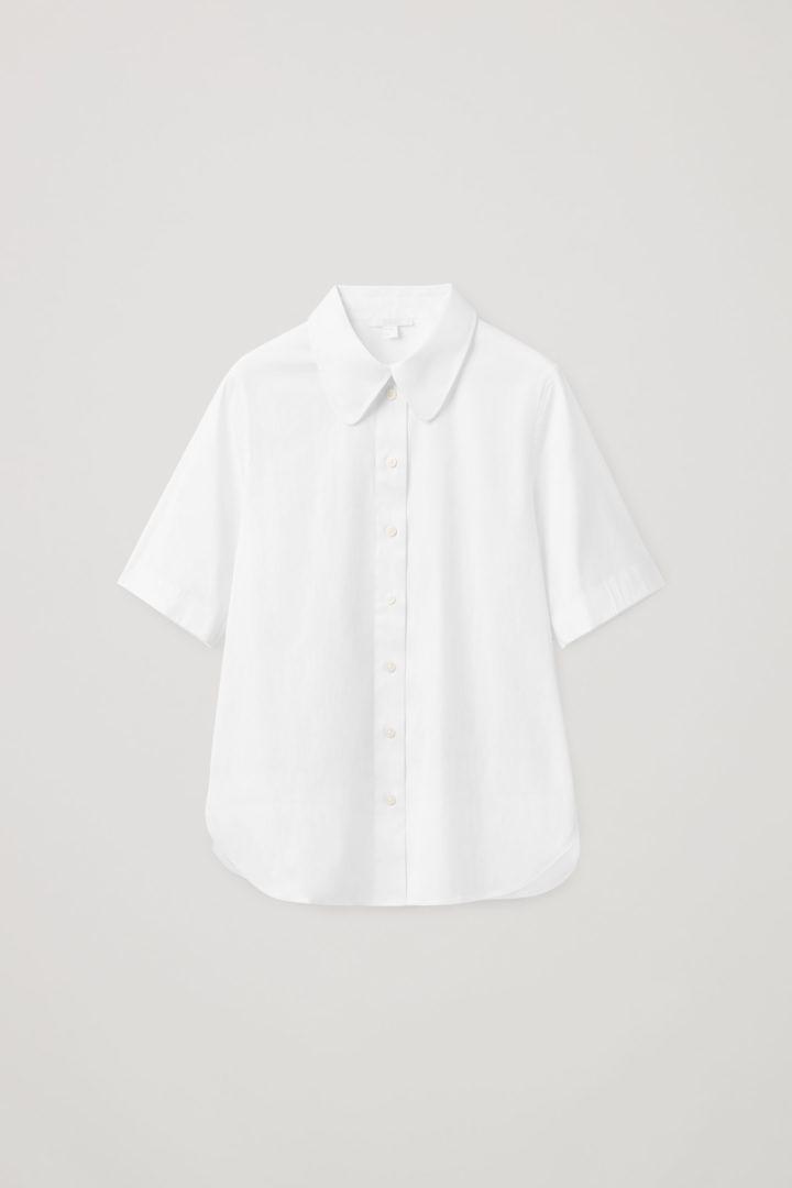 COS hover image 2 of 화이트 in 쇼트 슬리브 셔츠