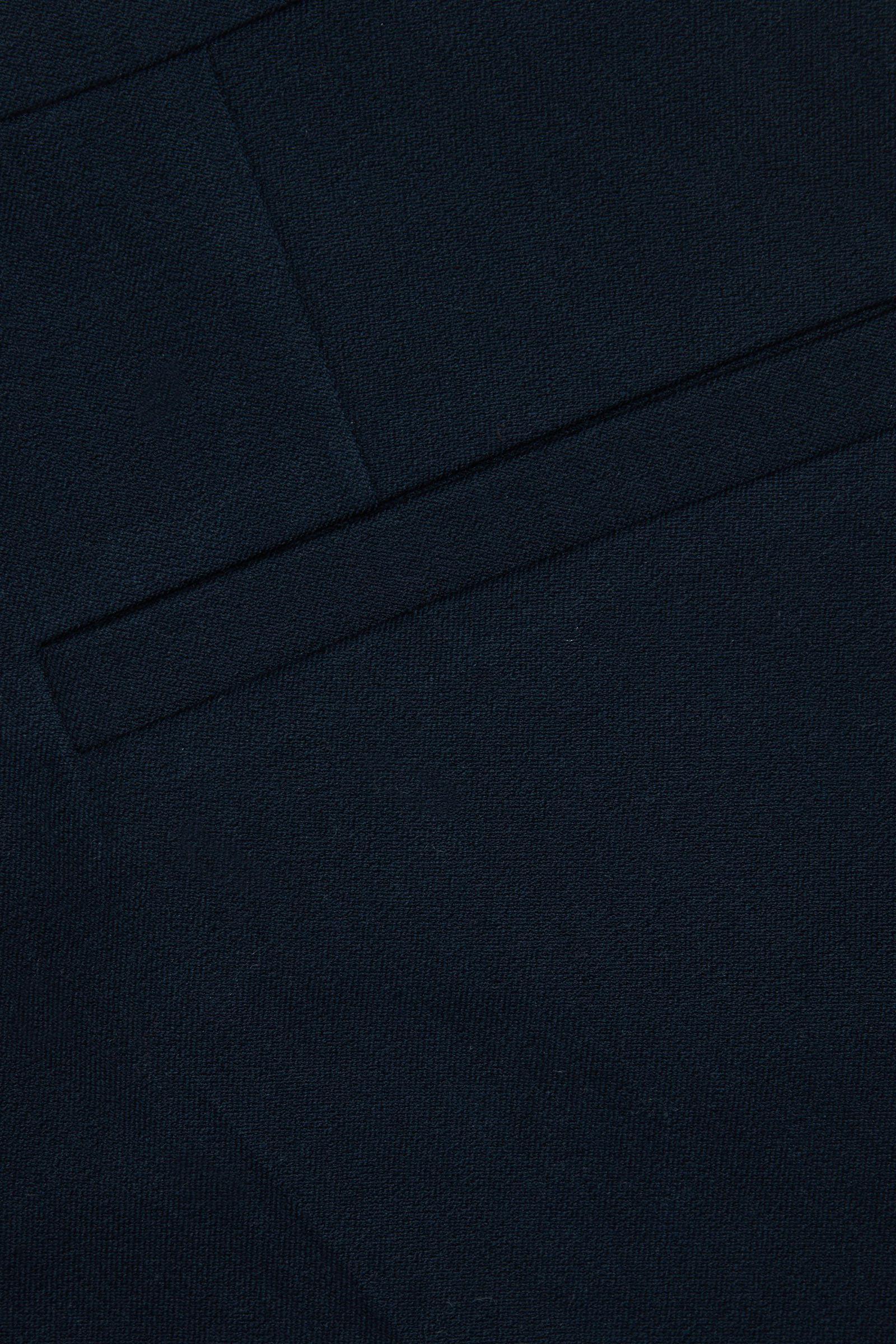 COS 오가닉 코튼 시가렛 트라우저의 네이비컬러 Detail입니다.