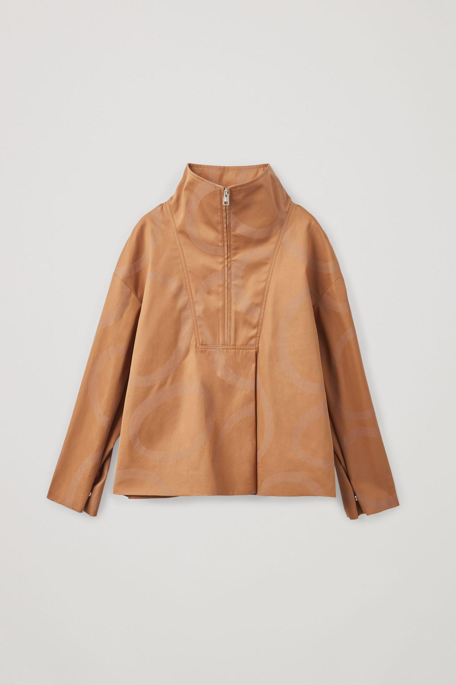 COS 프린티드 코튼 재킷의 베이지 / 브라운컬러 Product입니다.