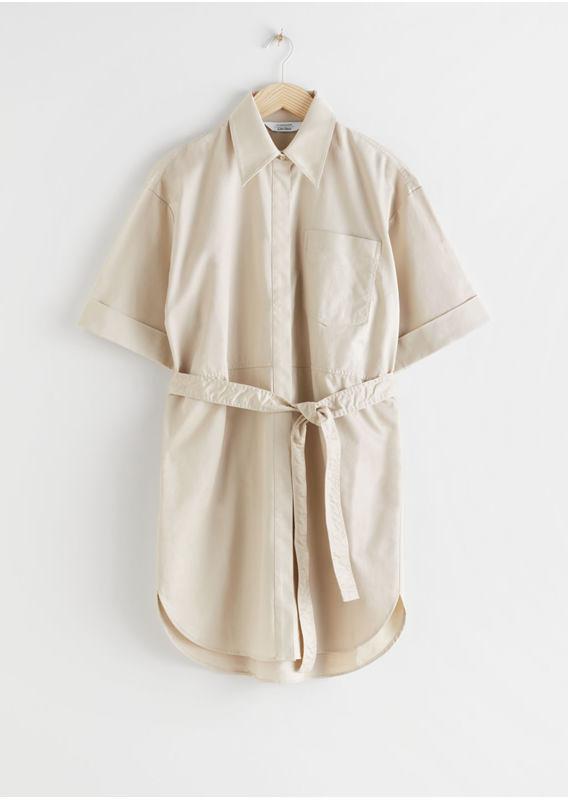 &OS image 10 of  in 탑스티치 유틸리티 셔츠 드레스